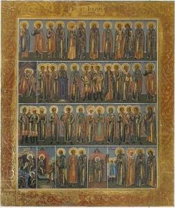 canoni iconografici dei Menologi