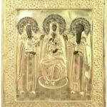 antiche icone russe - icone da collezione - Madre di Dio in trono