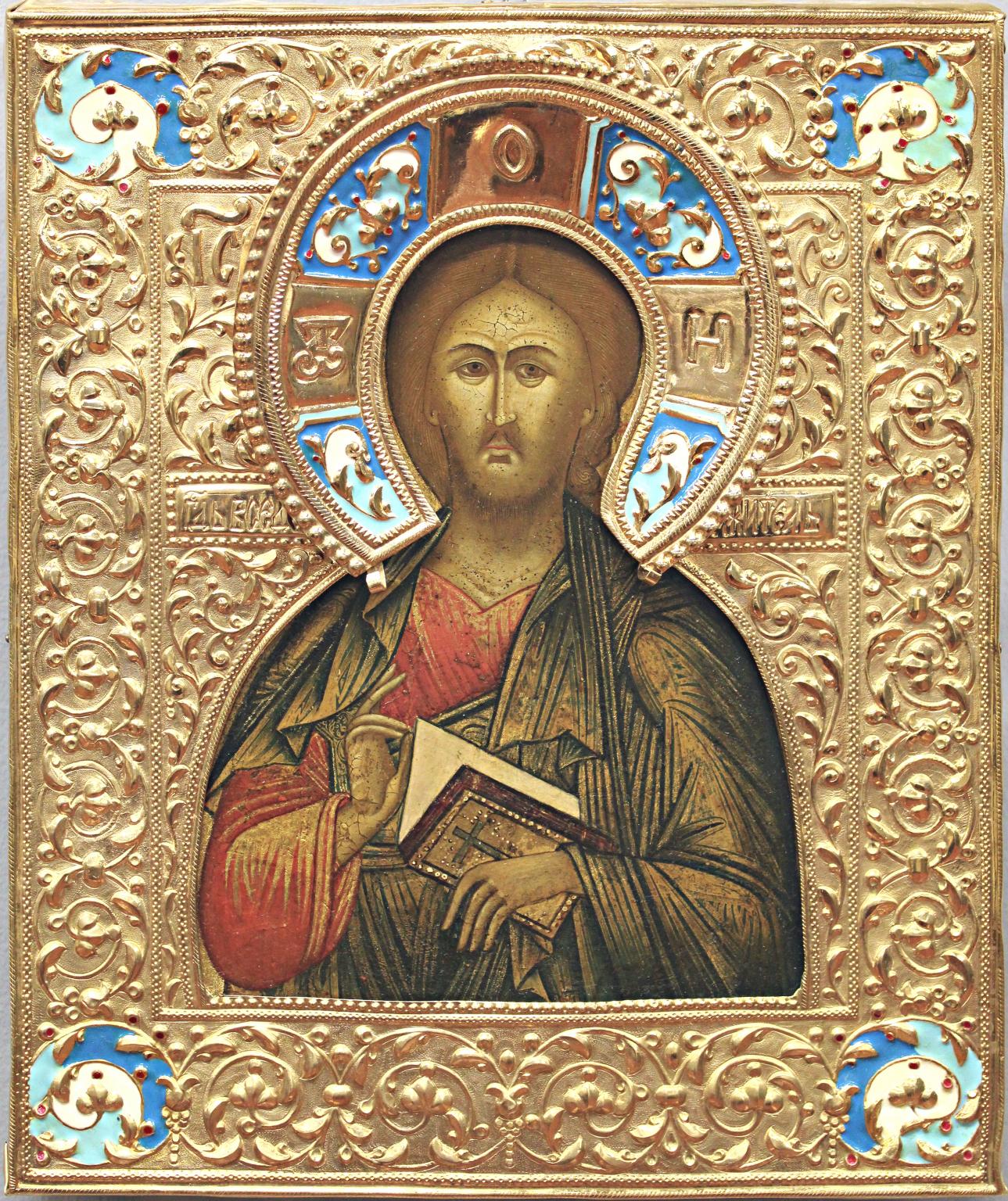 Cristo Pantocratore, icone russe antiche, icone da collezione